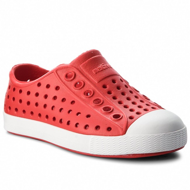 Torch Red Native Toddler Jefferson Shoes Shell White