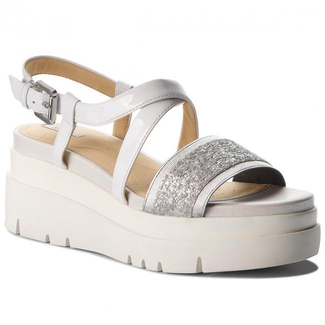 Sandals GEOX D Radwa D D827UD 0EWHH C0434 SilverWhite