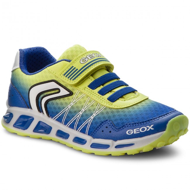 Arado vagón De alguna manera  Shoes GEOX - J Shuttle B. B J8294B 014BU C4344 D Royal/Lime - Velcro - Low  shoes - Boy - Kids' shoes   efootwear.eu