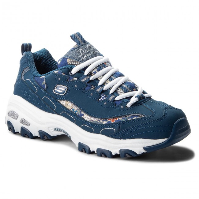 Sneakers SKECHERS D'lites Floral Days 13082NVY Navy