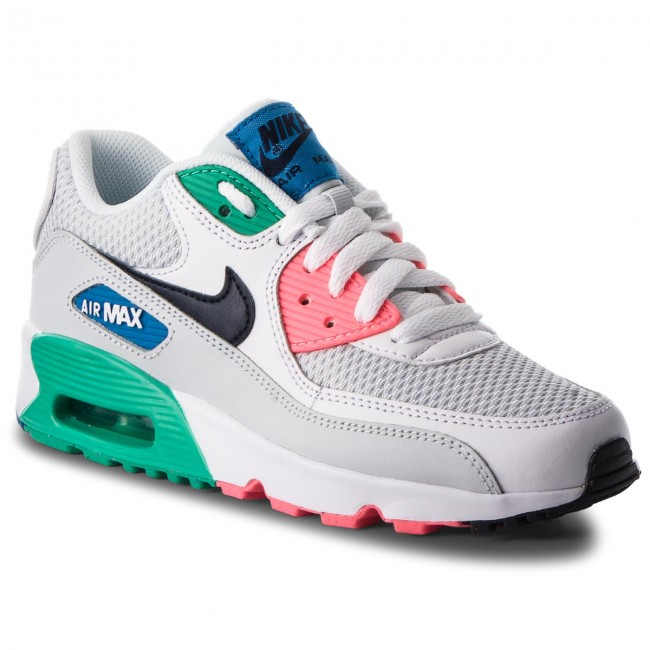 Shoes NIKE Air Max 90 Mesh (GS) 833418 112 WhiteObsidianPure Platinum