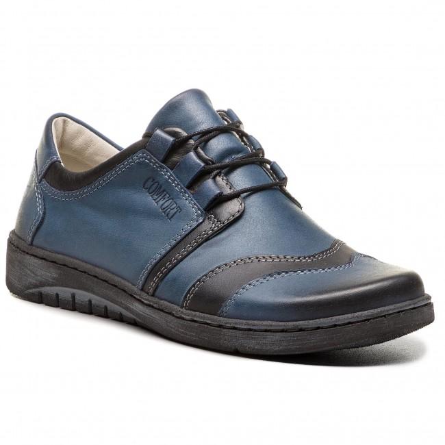 Shoes WALDI - 0582 Granat/Czarny