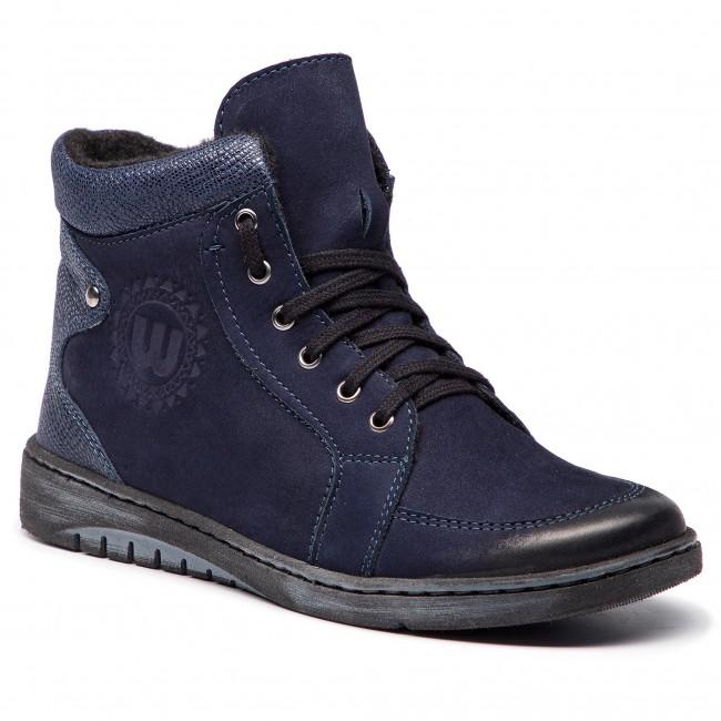 Boots WALDI - 0580 Granat Nubuk/Granat