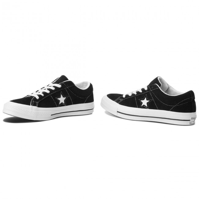 Converse One Star Premium Suede Low Top BlackWhiteWhite