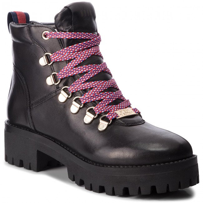 94e3d132187 Hiking Boots STEVE MADDEN - Boomer Ankle Boot SM11000245-03001-017 Black  Leather