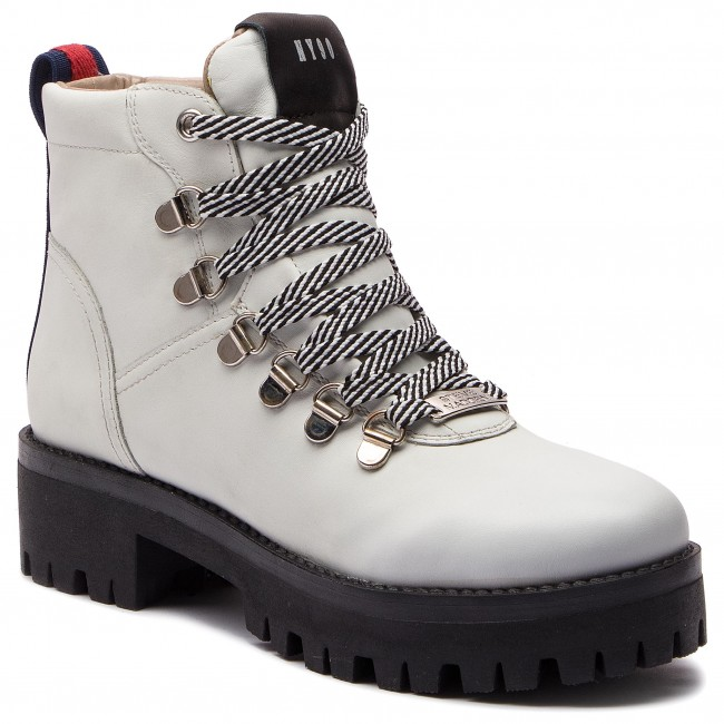 9d7f091eb19 Hiking Boots STEVE MADDEN - Boomer Ankle Boot SM11000245-03001-107 White  Leather