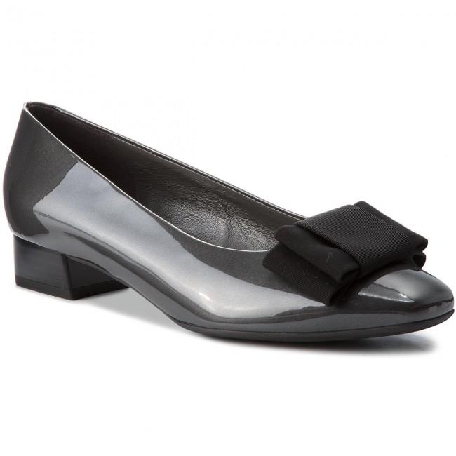 Shoes PETER KAISER - Nari 23205/967 Carbon Mura Schwarz Ripsschleife