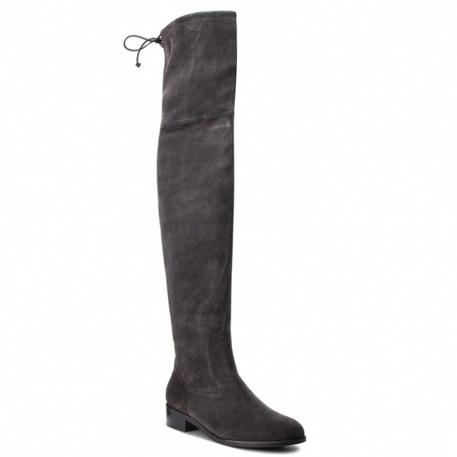 Over-Knee Boots PETER KAISER - Pesa 85247/128 Carbon Suede