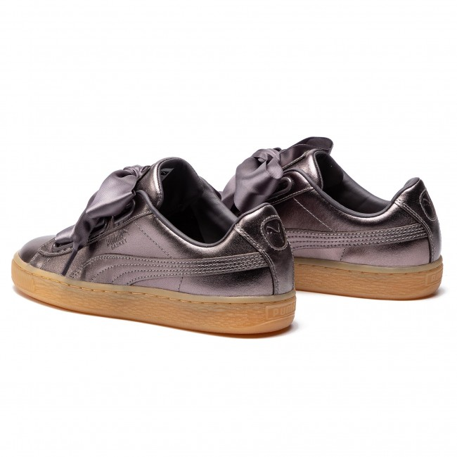 premium selection f4c79 1698d Sneakers PUMA - Basket Heart Luxe Wn's 366730 01 Quiet Shade/Quiet Shade