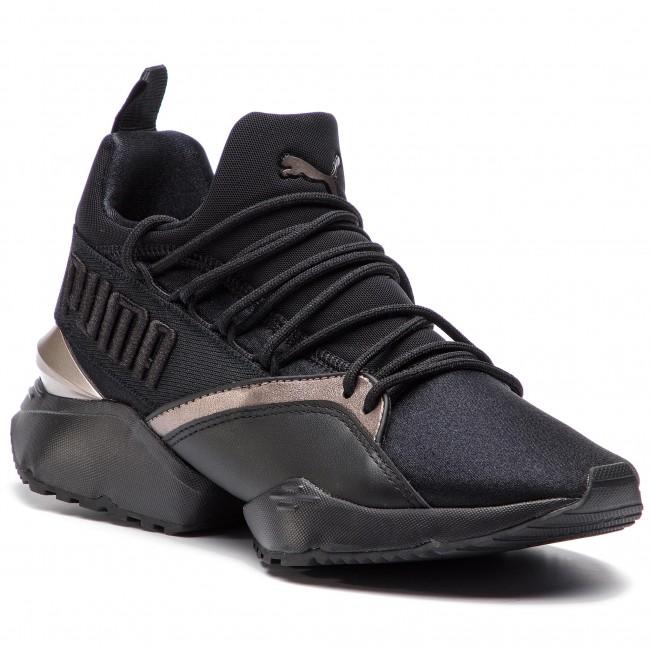 78e2e3c5a25 Sneakers PUMA - Muse Maia Luxe Wn's 366766 01 Puma Black/Puma Black