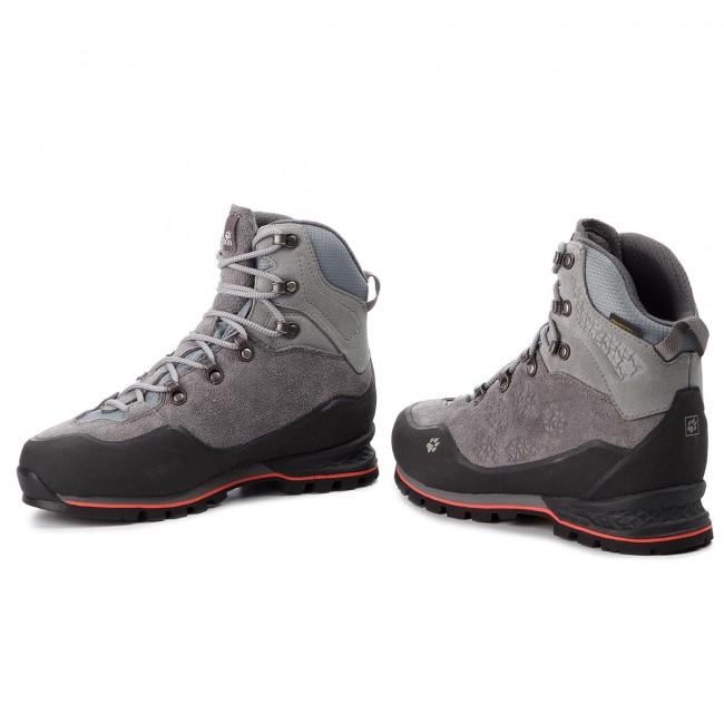 Trekker Boots JACK WOLFSKIN Wilderness Texapore Mid W 4026542 Tarmac Grey
