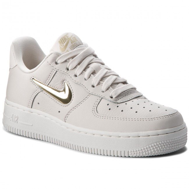 Shoes NIKE Air Force 1 '07 Prm Lx AO3814 001 PhantomMtlc Gold Star