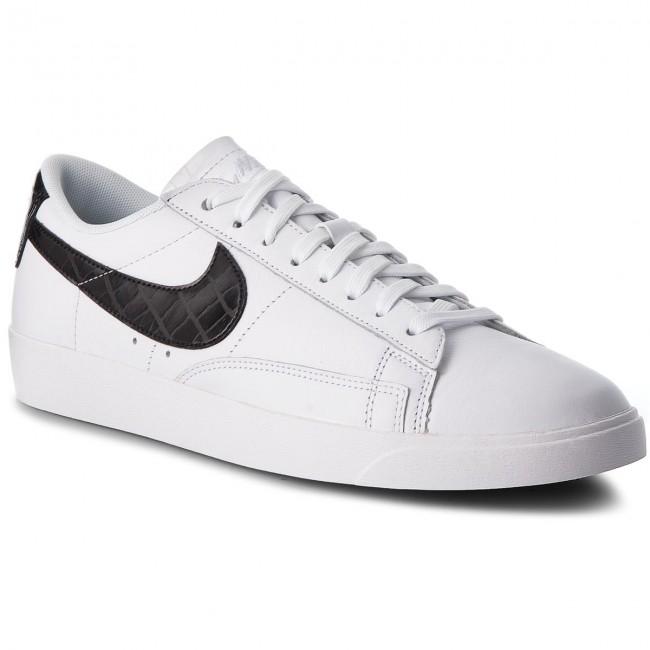 black and white nike blazers low