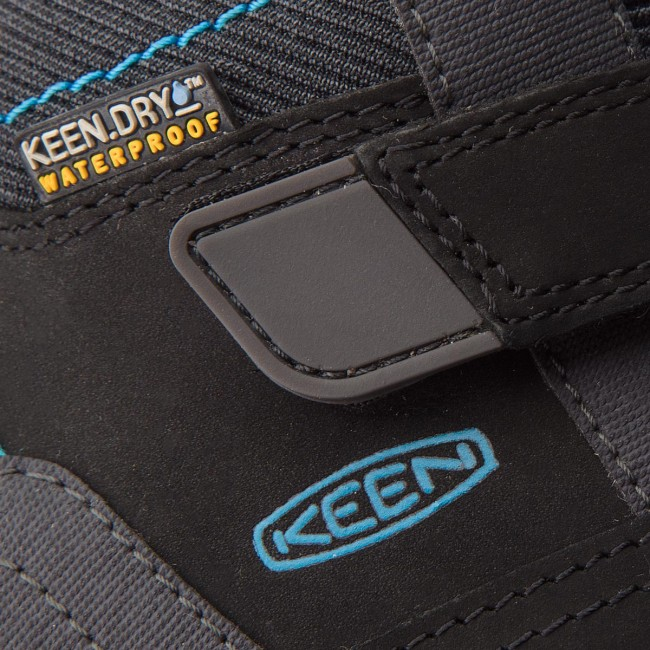 NEW IN THE BOX KEEN 1017997 BLACK//BLUE JEWEL WATERPROOF  BOOTS FOR KIDS
