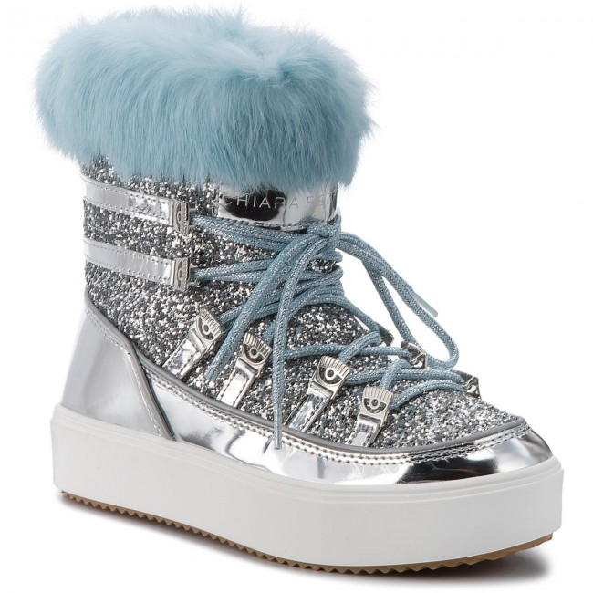 a31a31b50e26 Snow Boots CHIARA FERRAGNI - 18AI-CF2124 Silver - Winter boots - High boots  and others - Women's shoes - efootwear.eu
