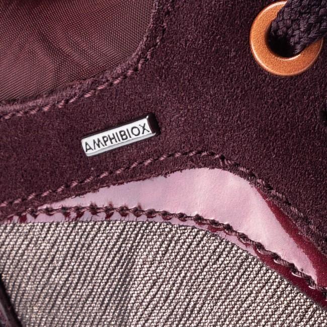 Sneakers GEOX D Aneko B Abx A D843FA 0LYMC C6M7J CoffeeDk Burgundy