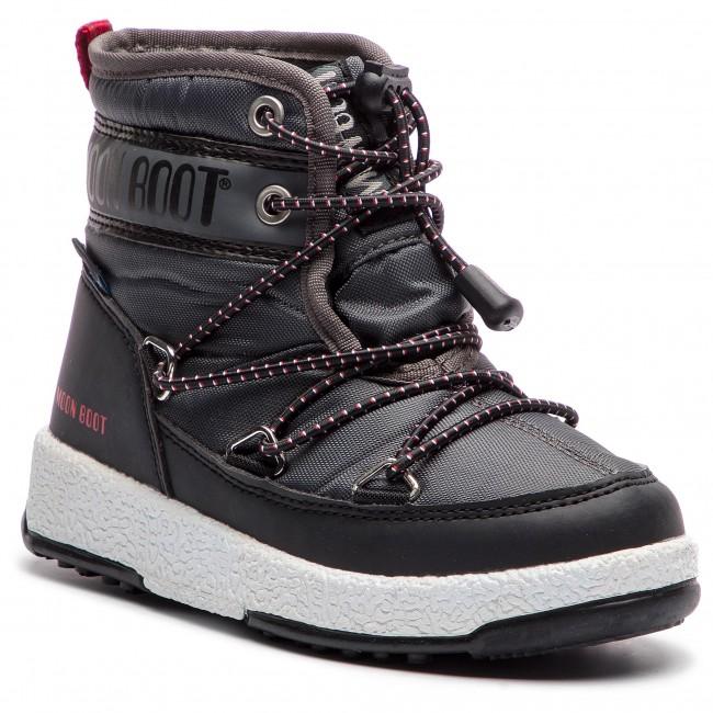 1aa8cc276 Snow Boots MOON BOOT - Jr Boy Mid Wp 34051200004 Black/Castlerock