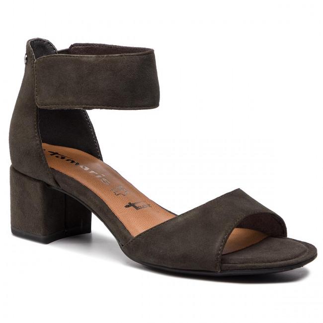 Tamaris High Heel Sandal brown primrose casual look