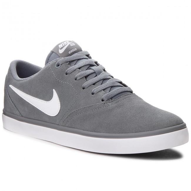 Shoes NIKE - Sb Check Solar 843895 005 Cool Grey/White