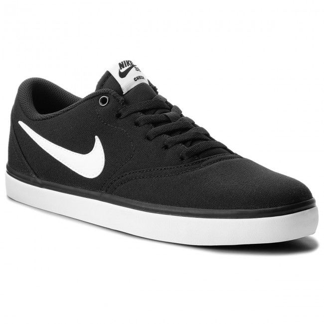 Shoes NIKE Sb Check Solar Cnvs 843896 001 BlackWhite