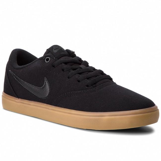 Shoes Nike Sb Check Solar Cnvs 843896 009 Black Black Gum Light Brown Sneakers Low Shoes Men S Shoes Efootwear Eu
