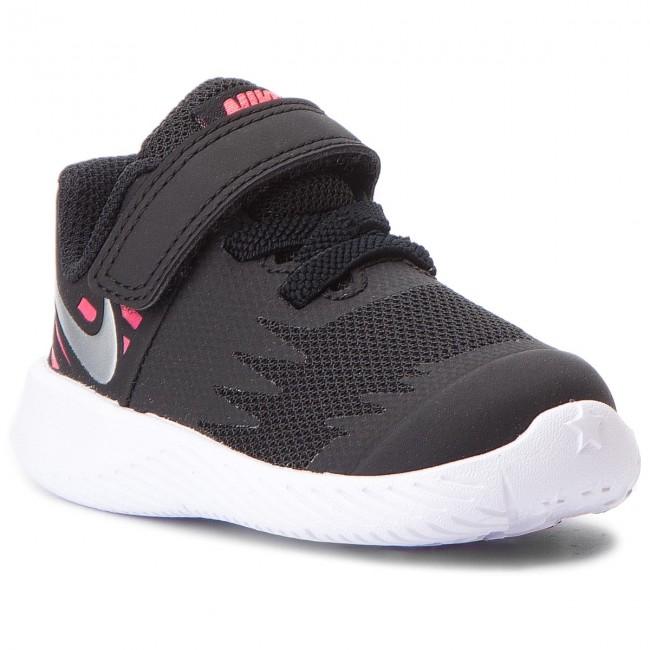 Devorar Cuervo Botánico  Shoes NIKE - Star Runner (TDV) 907256 004 Black/Metallic Silver - Velcro -  Low shoes - Girl - Kids' shoes | efootwear.eu