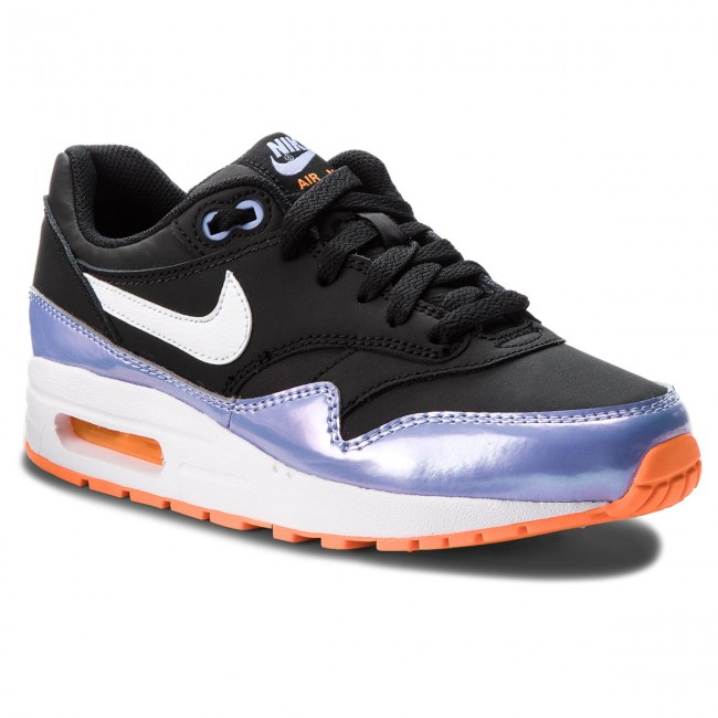 Shoes NIKE Air Max 1 (GS) 807605 003 BlackWhiteTwilight Pulse