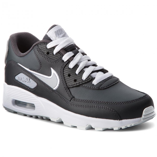 Shoes NIKE Air Max 90 Ltr (GS) 833412 021 AnthraciteWolf GreyWhite