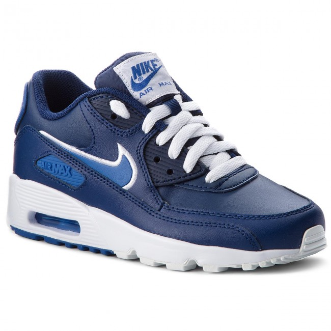 Shoes NIKE Air Max 90 Ltr (GS) 833412 409 Blue VoidGame RoyalWhite