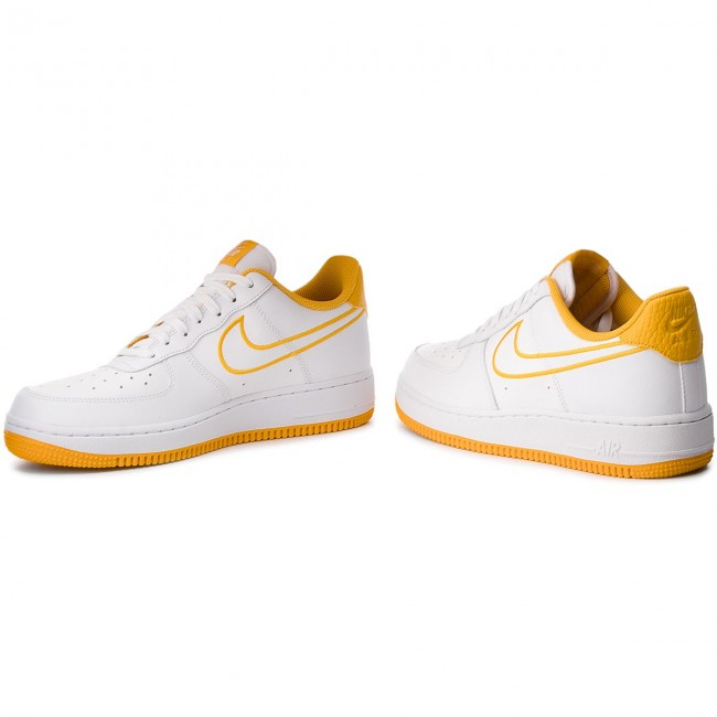 0800c9d66c898 Shoes NIKE - Air Force 1 '07 Lthr AJ7280 101 White/Yellow Ochre