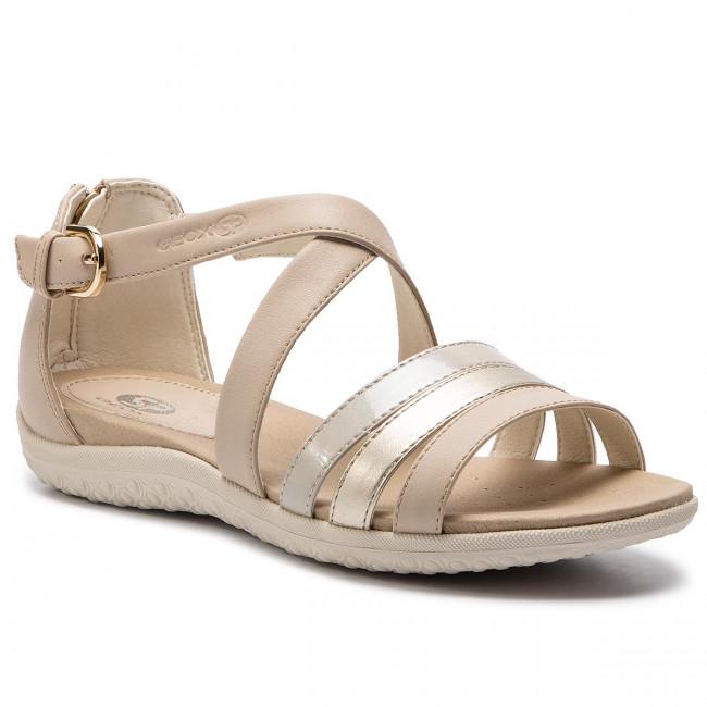 Sandals GEOX D Sand. Vega B D92R6B 054AJ C5379 BeigeLt Gold