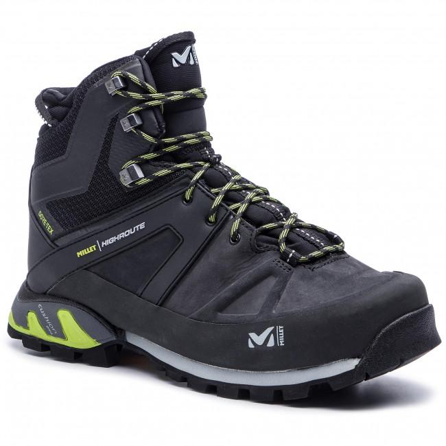 c4f3d026b89 Trekker Boots MILLET - High Route Gtx MIG1784 Black/Acid Green 7216