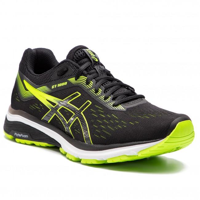 Shoes ASICS - GT-1000 7 1011A042 Black/Hazard Green 004