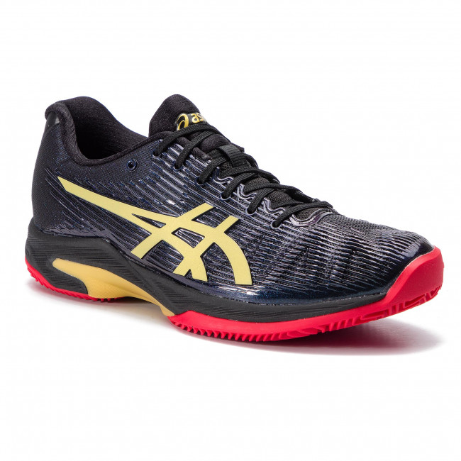 Shoes ASICS Solution Speed FF L.E Clay 1041A055 BlackRich Gold 001
