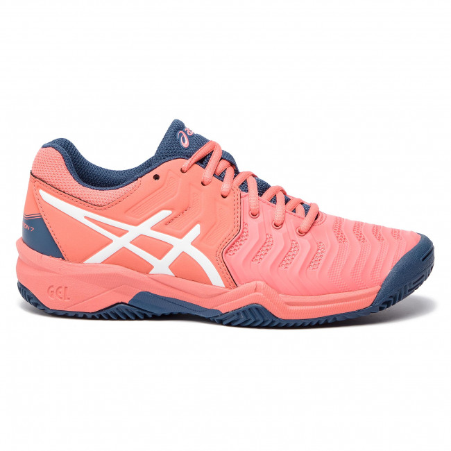 Shoes ASICS Gel Resolution 7 Clay Gs C800Y PapayaWhite 701