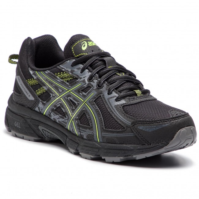 Shoes ASICS - Gel-Venture 6 T7G1N Black/Neon Lime 001