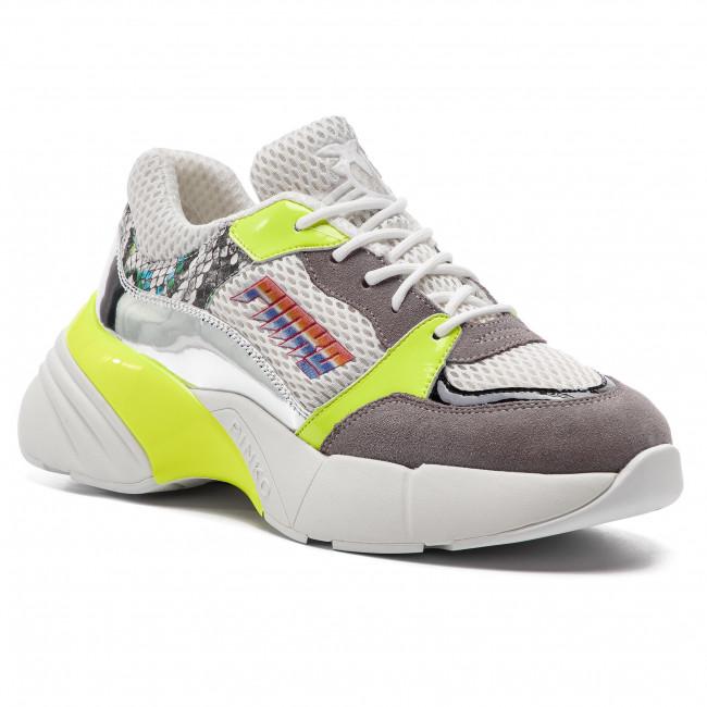 5a92eb4b08f4 Sneakers PINKO - Smeraldo PE 19 BLKS1 1H20LQ Y5BJ Bianco/Gia ZHT - Sneakers  - Low shoes - Women's shoes - efootwear.eu