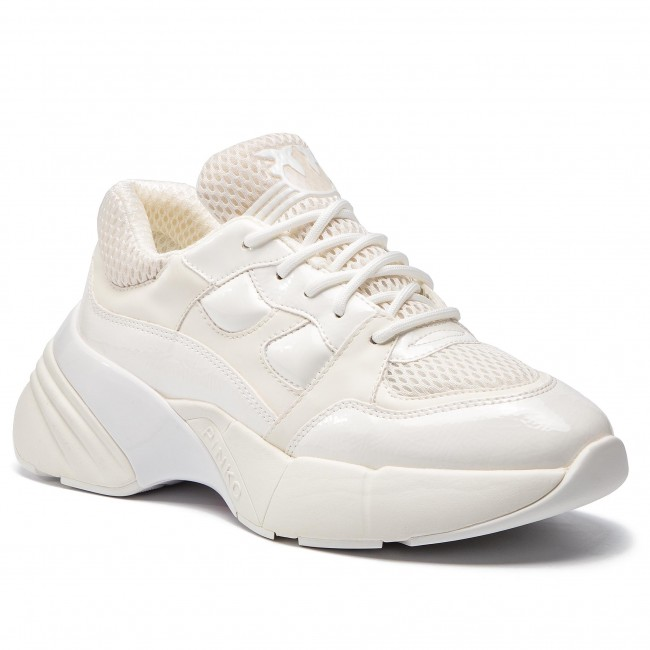 8698c2904999 Sneakers PINKO - Rubino Sneaker PE 19 BLKS1 1H20LS Y5BP White Z04 - Sneakers  - Low shoes - Women's shoes - efootwear.eu