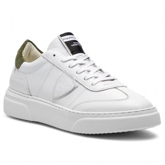 Sneakers PHILIPPE MODEL Temple BALU V024 Blanc Militaire