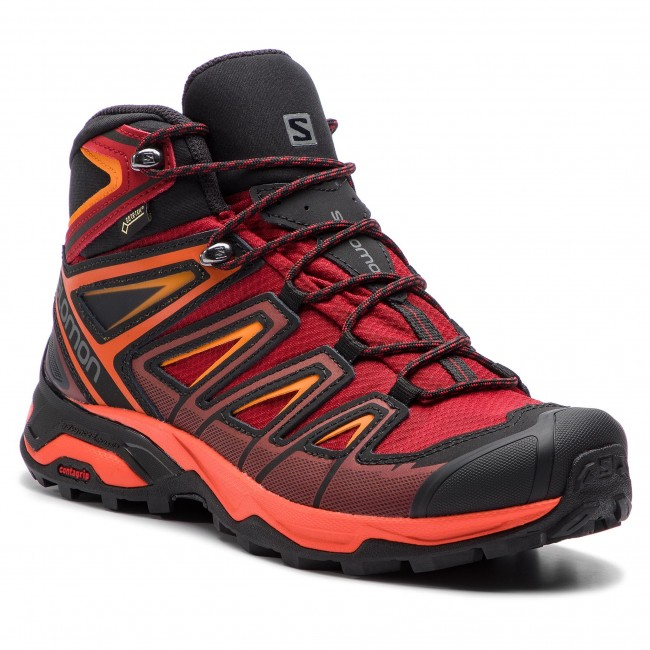 Trekker Boots SALOMON X Ultra 3 Mid Gtx GORE TEX 404680 27 W0 Red DahliaCherry TomatoTangelo
