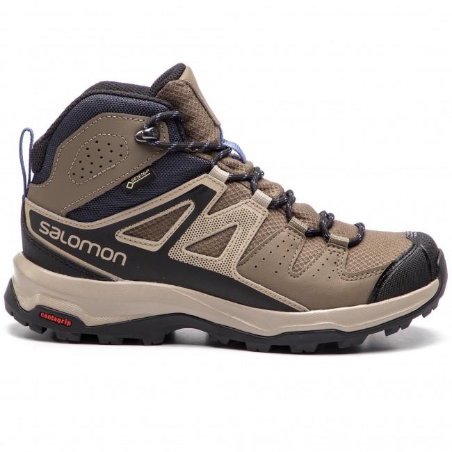 Trekker Boots SALOMON X Radiant Mid Gtx W GORE TEX 406746 20 V0 Bungee CordVintage KakiVelvet Morning