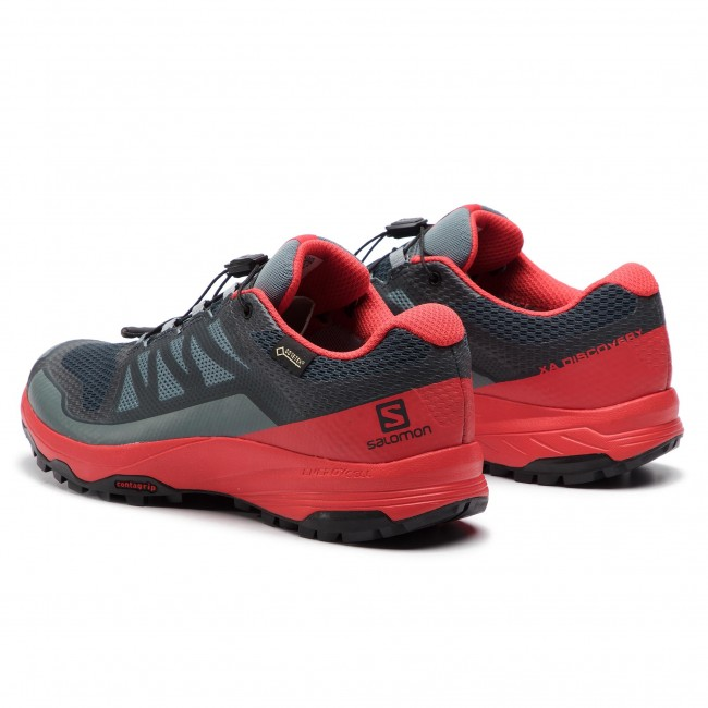 Shoes SALOMON Xa Discovery Gtx GORE TEX 406803 27 W0 Stormy WeatherHigh Risk RedBlack