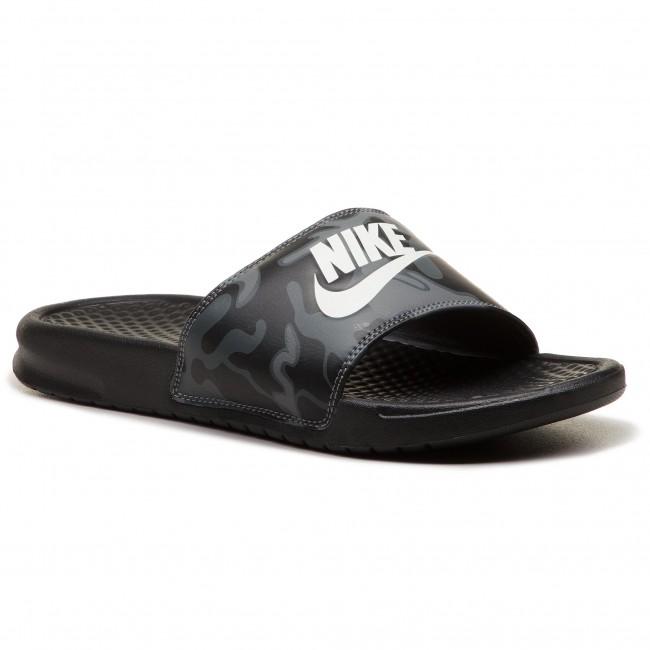 lace up in hot sales huge discount Slides NIKE - Benassi Jdi Print 631261 013 Black/Summit White ...