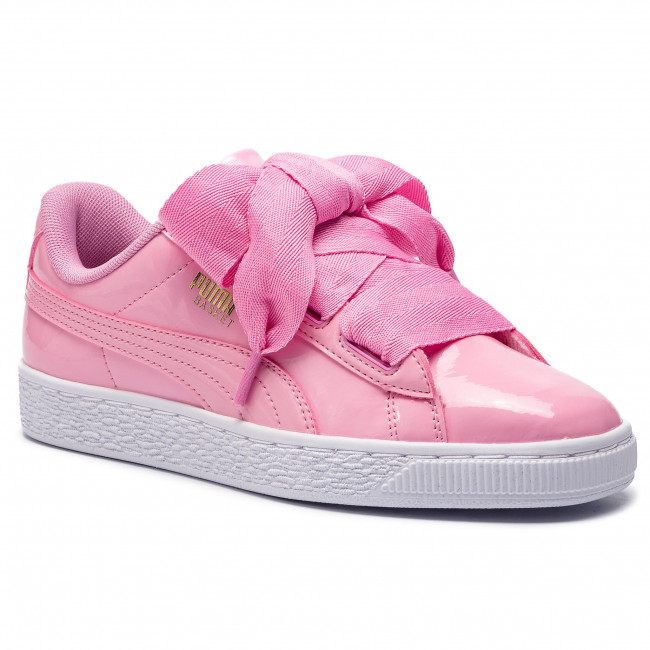 buy popular 92ca8 63acd Sneakers PUMA - Basket Heart Patent Jr 364817 03 Prism Pink/Pcoat/Gold/White