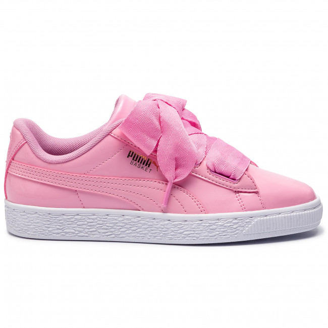 Sneakers PUMA Basket Heart Patent Jr 364817 03 Prism PinkPcoatGoldWhite