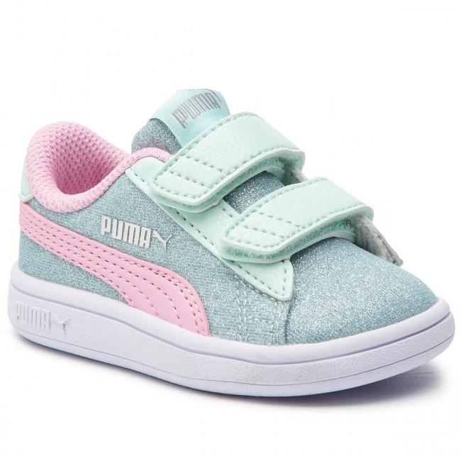 Sneakers PUMA - Smash V2 Glitz Glam V Inf 367380 07  F Aqua/P Pink/Sliver/White