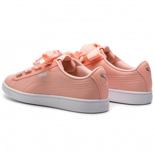 8d704e20 Sneakers PUMA - Vikky V2 Ribbon Core 369114 04 Pech Bud/Puma Silver/White