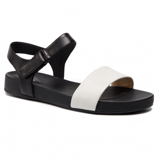 Sandals CLARKS - Bright Pacey 261412584 White Leather
