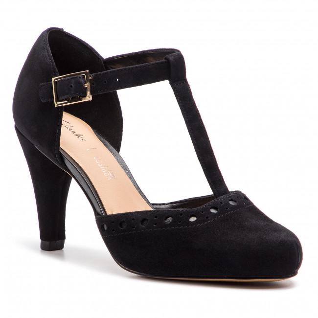 calcetines apertura considerado  Shoes CLARKS - Dalia Leah 261393044 Black Sde - Heels - Low shoes - Women's  shoes | efootwear.eu