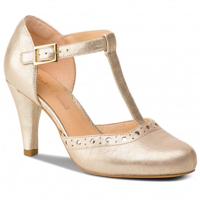 Iniciar sesión Chorrito Disciplinario  Shoes CLARKS - Dalia Leah 261393024 Champagne Leather - Heels - Low shoes -  Women's shoes | efootwear.eu